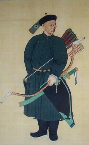 Člen elitních jednotek osobních strážců Qingských císařů
